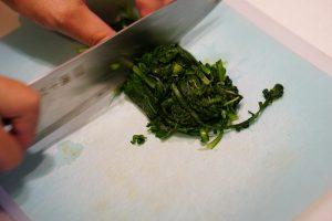 Chrysanthemum Greens With Walnut Dressing - Step3