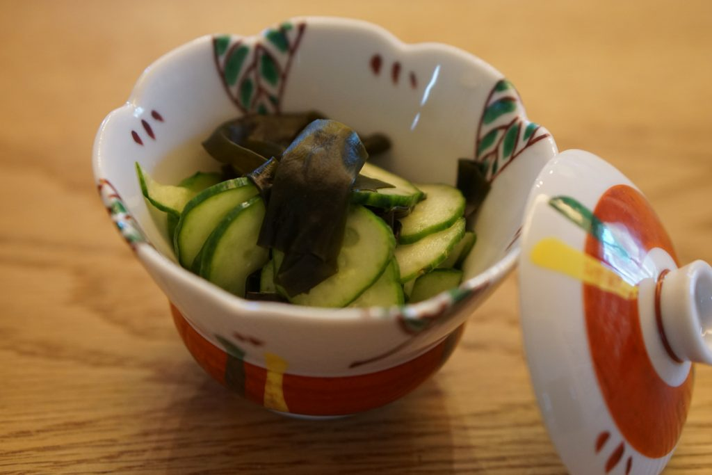 Cucumber and wakame in vinegar dressing