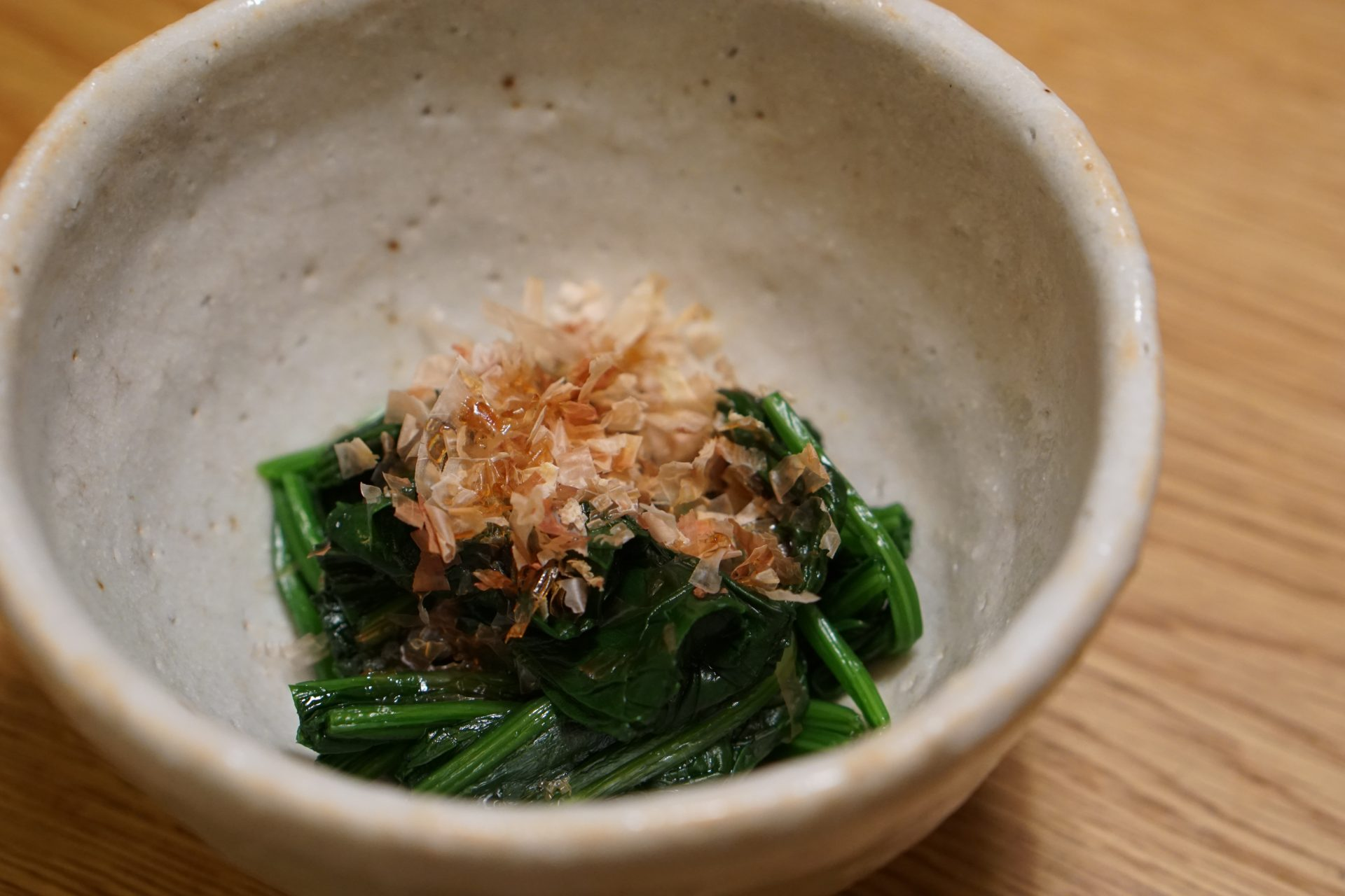 Spinach with Soy Sauce and Katsuobushi