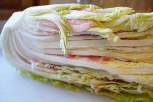 Layered Napa Cabbage and Pork - Step1