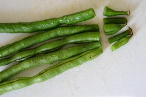 Green Beans and Corn with Sesame - Preparation