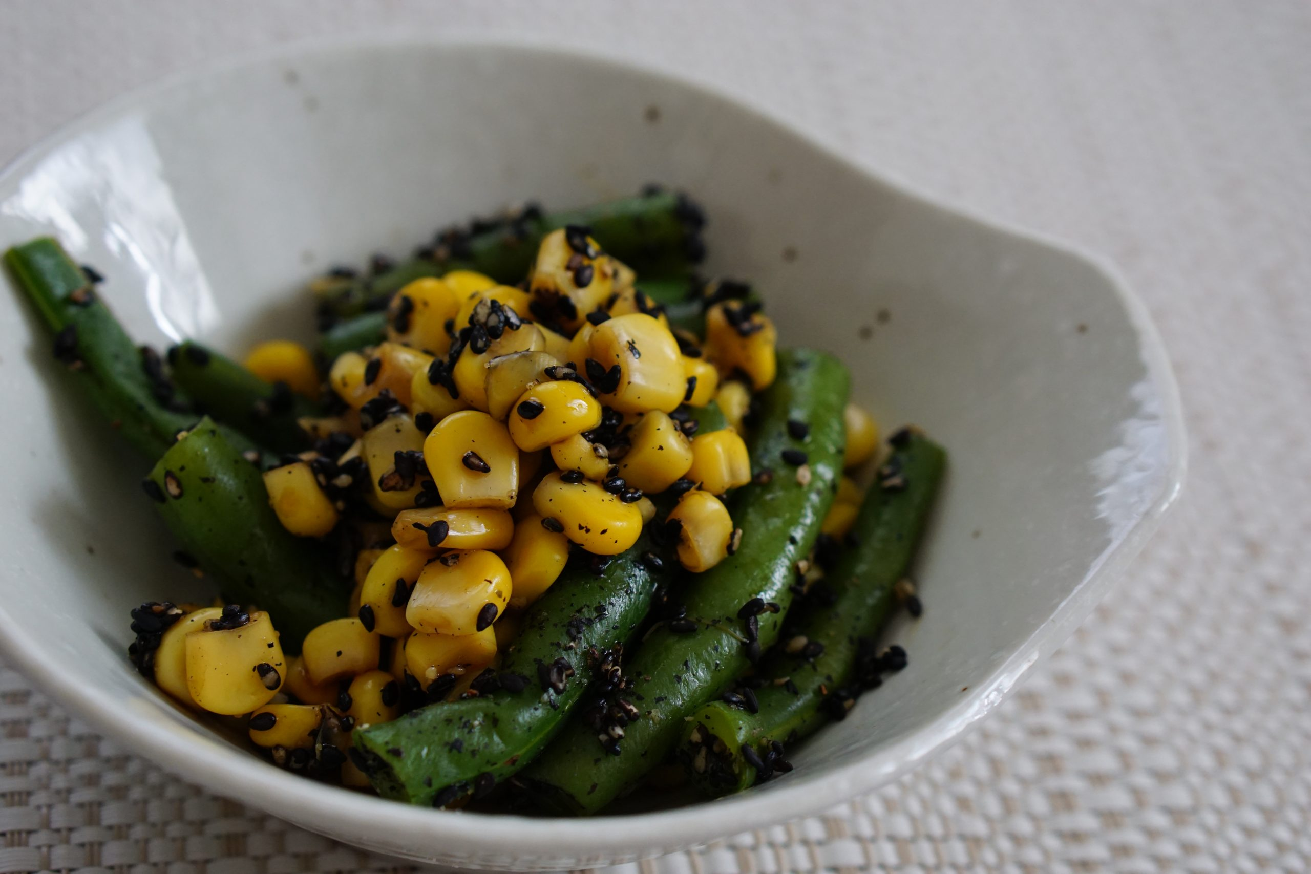 Green Beans and Corn with Sesame