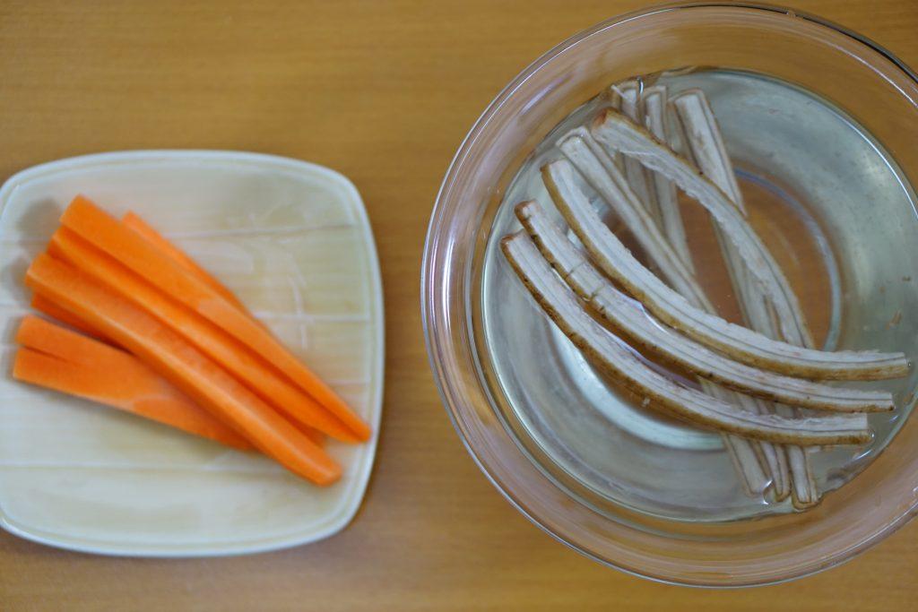 Burdock Carrot Beef Rolls - Preparation