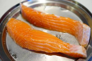Tsutsumi-yaki Salmon - Preparation
