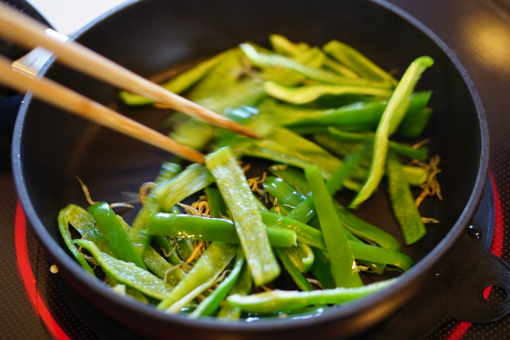 Green Pepper and Chirimenjako Stir Fry - Step2