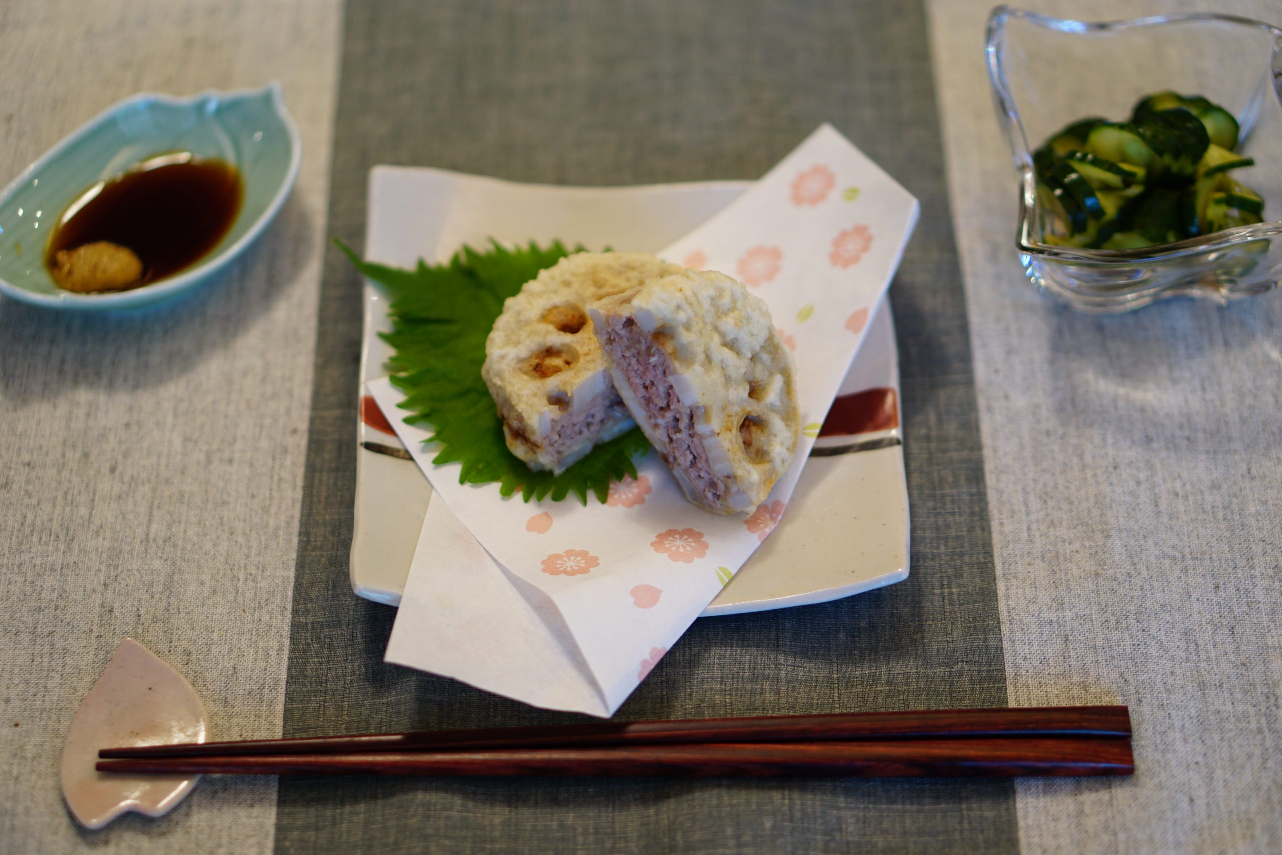 Deep-fried Lotus Root Sandwiches