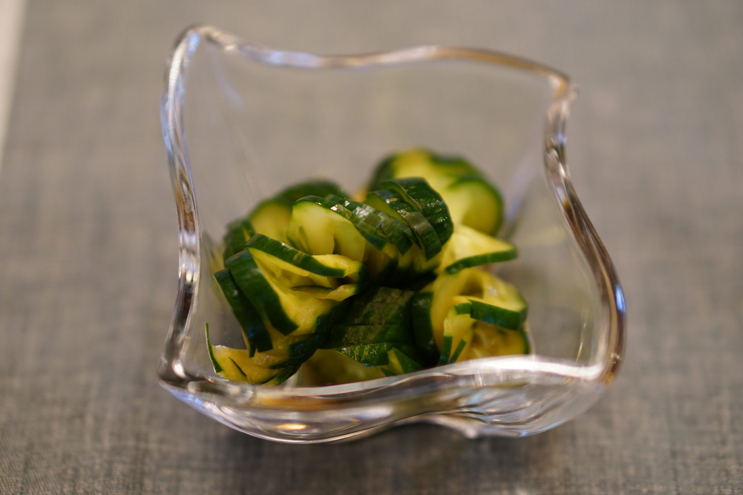 Cucumber with Soy Sauce Dressing