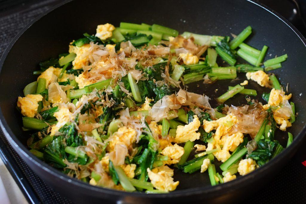 Komatsuna and Scrambled Egg Stir-Fry - Step3