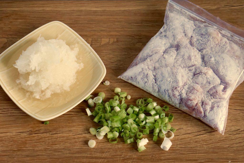 Juicy Chicken Mizore-ni - Preparation